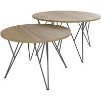 Canapé Salon Séjour> Salon > Table basse. Table basse ronde CHICAGO coloris noir/chêne