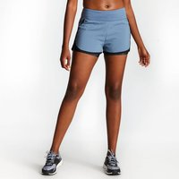 Womens Begin Two Layer Shorts - Meteor Grey