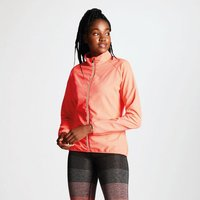 Womens Exhultance Lightweight Windshell Jacket Fiery Coral
