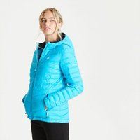 Womens Elative II Down Fill Quilted Hooded Jacket Azure Blue
