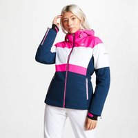 Womens Avowal Ski Jacket Blue Wing White Cyber Pink