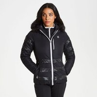 Womens Snowglow Faux Fur Trim Luxe Ski Jacket Black