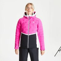 Womens Vividly Waterproof Insulated Quilted Hooded Ski Jacke