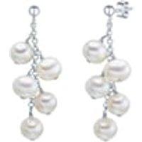 Valero Pearls Ohrstecker Sterling Silber Süßwasser-Zuchtperle silber Ohrring 1.0 st - 4250335733364