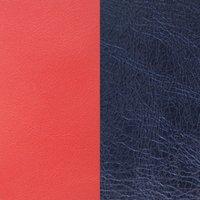 Les Georgettes Ledereinsatz Ring - Rot Blau - LEDBG-12 rot