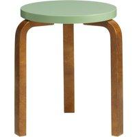 Artek Aalto stool 60, pale green - walnut