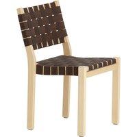 Artek Aalto chair 611, birch - black/brown webbing