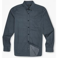 Blurred Overlay Checked Shirt - Blue Depths
