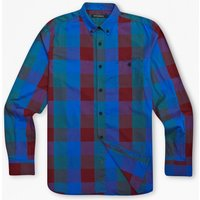 Bickham Checked Cotton Shirt - Snorkel Blue