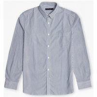 Bold Stripe Connery Shirt - Bright Colbalt/marine Blue