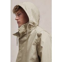 Bonded Cotton Hooded Rain Mac - Timber/cadet Blue