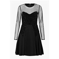 French ConnectionMoondust Sheer Sequinned Dress - black