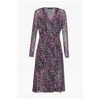 French ConnectionElectric Leopard Wrap Dress - black multi