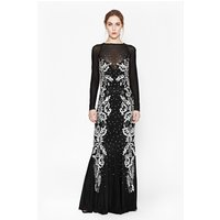 French ConnectionSequin Maxi Dress - black/silver