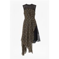 French ConnectionMasai Check Flared Dress - antelope/black