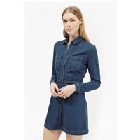 French ConnectionEdie Denim Mini Dress - enzyme stone