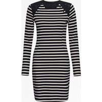Annie Stripe Tunic Dress - Utility Blue/daisy White