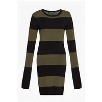 French ConnectionRugby Stripe Knit Long Sleeved Jumper Dress - black/dusty olive