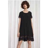French ConnectionClassic Crepe and Lace Dress - black/nocturnal