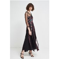 French ConnectionEdith Floral Long Sleeved Maxi Dress - black multi