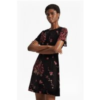 French ConnectionWilma Devor+¬ Short Sleeved Dress - black multi