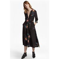 French ConnectionDelphine Drape Shirt Dress - black multi