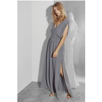 French ConnectionJeunesse Stitch V Neck Maxi Dress - smokey