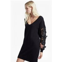 French ConnectionManzoni Sparkle Knit Jumper Dress - black