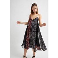 Amerie Lace Mix Floral Dress - Rosso Red Multi
