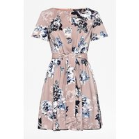 Amalfi Corsetta Floral Belted Dress - Cinder Pink Multi