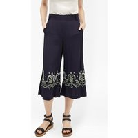Casa Tile Embellished Trousers - Utility Blue Multi