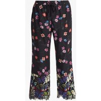 Botero Lace Mix Tie Waist Trousers - Black Multi