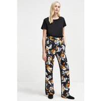 Aventine Drape Wide Leg Trousers - Utility Blue Multi