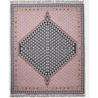 Poppy Outdoor Rug - pink and grey