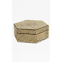 Gold Studded Hex Box - gold