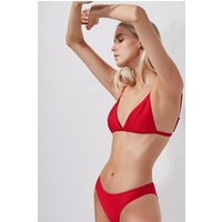 Ottoman Triangle Bikini Top - shanghai red