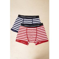 2 Pack Sailor Stripe Jersey Trunks - Fathom Blue/tango Red/white