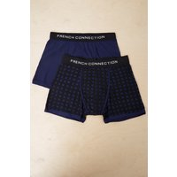 2 Pack Gridlock Jersey Trunks - Fathom Blue/black