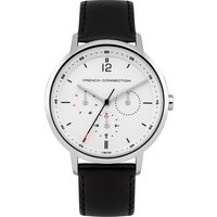 39mm Leather Strap Watch - Black