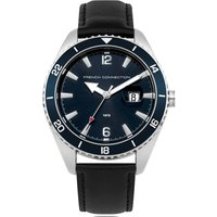 Blue Dial Leather Watch - Blue