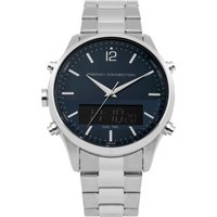 Brushed Steel Watch - Blue