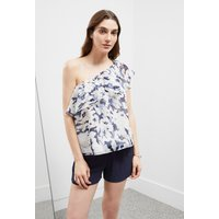 Sea Swirl One Shoulder Top