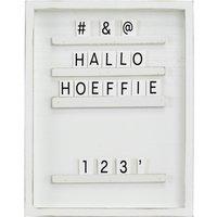 Letterboard  YES ¦ weiß ¦ MDF ¦ Maße (cm): B: 23 H: 29 T: 2,2 Dekoration > Bilderrahmen - Höffner