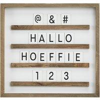 Letterboard  YES ¦ braun ¦ MDF ¦ Maße (cm): B: 27,5 H: 29 T: 2,2 Dekoration > Bilderrahmen - Höffner