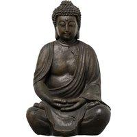 Buddha ¦ grau ¦ Polyresin (Kunstharz) ¦ Maße (cm): B: 25 H: 39 T: 20 - Höffner
