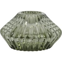 Kerzenhalter ¦ grün ¦ Glas Ø: 7.8 Dekoration > Kerzen & Lichter > Kerzenständer - Höffner