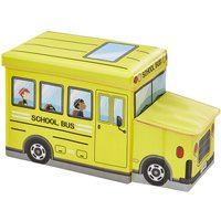 Sitzbank mit Stauraum Schulbus ¦ gelb ¦ Box Außen: 100% Polyester, Füllung: Karton, Innen: Stoff 100% Polyester, Deckel: Karto