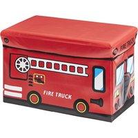 Sitzbank mit Stauraum Feuerwehr ¦ rot ¦ Box Außen: 100% Vinyl, Füllung: Karton, Innen: Stoff 100% Polyester Deckel: Karton gep