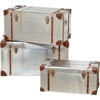 3er-Set Aufbewahrungsboxen Rimini ¦ silber Aufbewahrung > Truhen & Kisten - Höffner