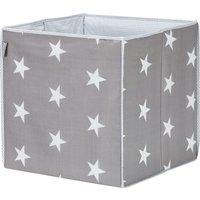 Roba Aufbewahrungsbox Little Stars ¦ grau ¦ Stoffbezug: 65% Polyester, 35% Baumwolle, Füllung: Pappe ¦ Maße (cm): B: 34 H: 34